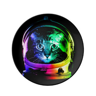 Louça De Jantar Astronauta do gato - gato do espaço - gatos