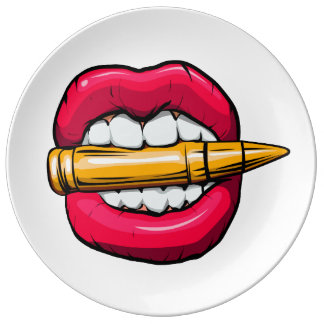 Louça De Jantar bala na boca