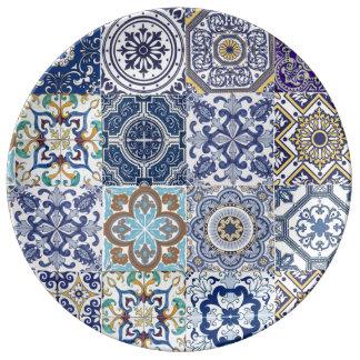 Louça De Jantar Base porcelana Azulejos