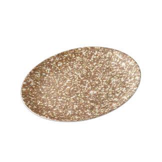 Louça De Jantar Brilho metálico do ouro cor-de-rosa do cobre