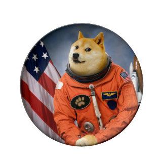 Louça De Jantar cão do astronauta - doge - shibe - memes do doge