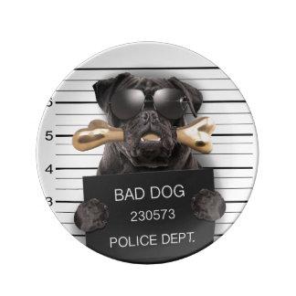 Louça De Jantar Cão do Mugshot, pug engraçado, pug