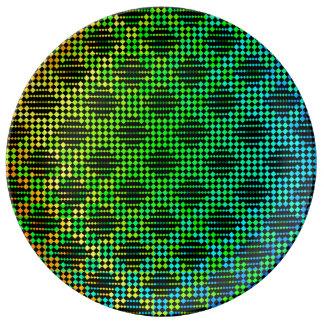 Louça De Jantar Cerca Checkered da estrutura por Kenneth Yoncich