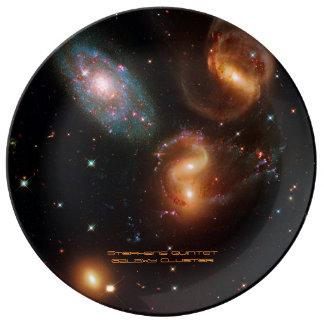 Louça De Jantar Conjunto da galáxia da estrela do espaço profundo