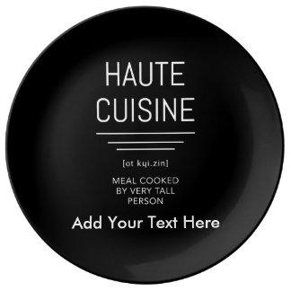 Louça De Jantar Culinária francesa engraçada de Haute do