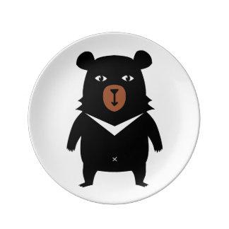 Louça De Jantar Desenhos animados do urso preto