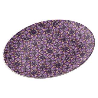 Louça De Jantar Design floral do teste padrão do abstrato da