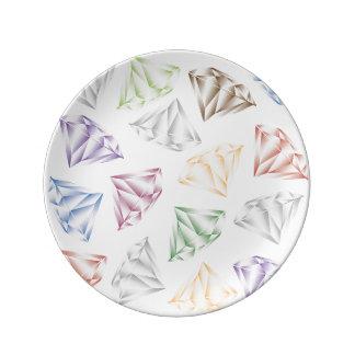 Louça De Jantar Diamantes coloridos para meu querido