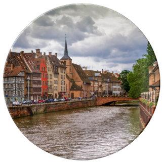 Louça De Jantar Doca do Saint Nicolas em Strasbourg, France