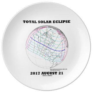 Louça De Jantar Eclipse solar 2017 o 21 de agosto total America do
