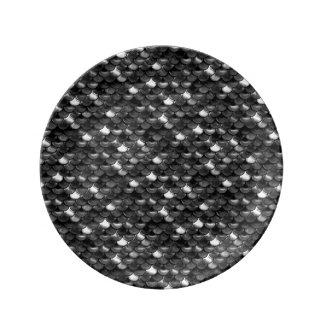 Louça De Jantar Escalas preto e branco de Falln