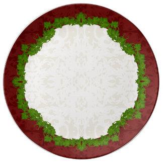 Louça De Jantar Feriado Fleur e porcelana das videiras
