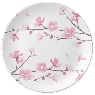 Louça De Jantar Flor de cerejeira - fundo transparente