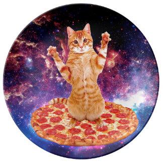 Louça De Jantar gato da pizza - gato alaranjado - espace o gato