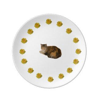 Louça De Jantar Gato de chita