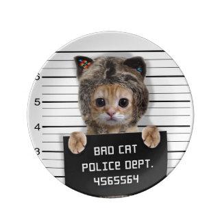 Louça De Jantar gato do mugshot - gato louco - gatinho - felino