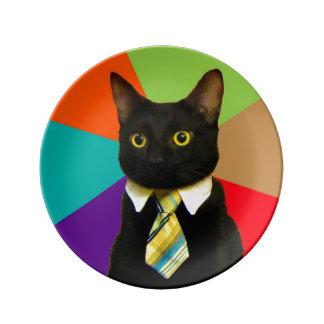 Louça De Jantar gato do negócio - gato preto