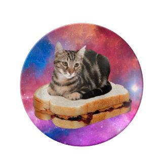 Louça De Jantar gato do pão - gato do espaço - gatos no espaço