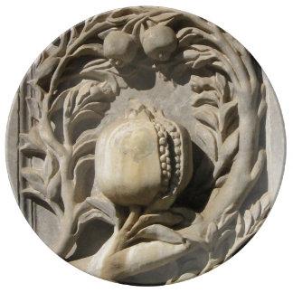 Louça De Jantar Granada cinzelou a placa decorativa da porcelana