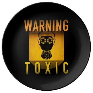 Louça De Jantar Grunge retro de advertência tóxico da idade