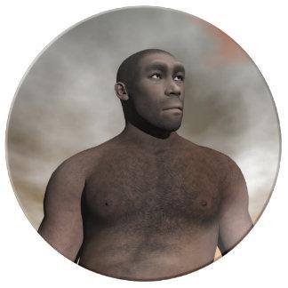 Louça De Jantar Homo erectus masculino - 3D rendem