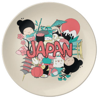 Louça De Jantar Kawaii Japão bonito!