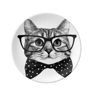 Louça De Jantar laço do gato - gato dos vidros - gato de vidro