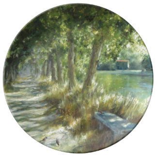 Louça De Jantar Landscape with a path close to the river póster