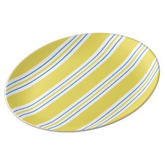 Louça De Jantar Listra do toldo - amarelo
