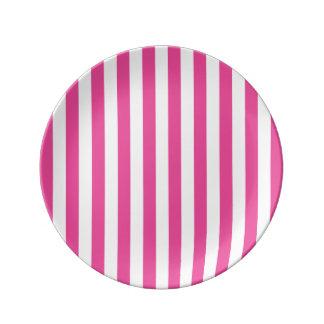 Louça De Jantar Listras verticais cor-de-rosa