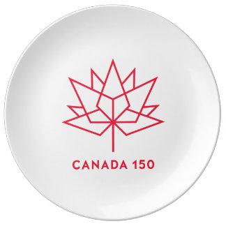 Louça De Jantar Logotipo do oficial de Canadá 150 - esboço