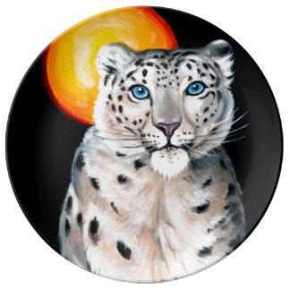 Louça De Jantar Lua do leopardo de neve