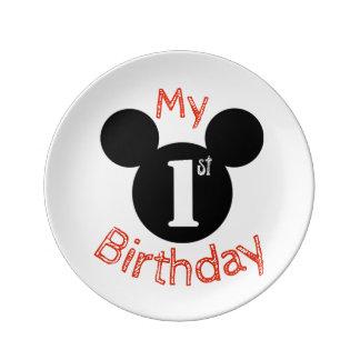 Louça De Jantar Mickey inspirou minha primeira placa do