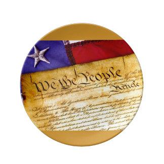 Louça De Jantar Nós as pessoas da placa da constituição
