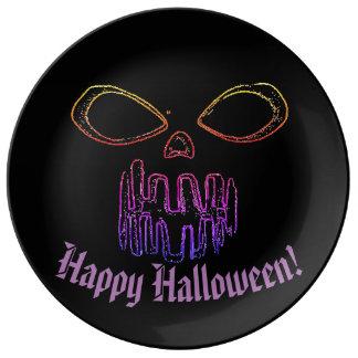 Louça De Jantar O Dia das Bruxas feliz & Jack-o-lanterna
