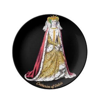 Louça De Jantar O ~ TRAJA o ~Catherine ~ 1420~ de Valois~ Henry do