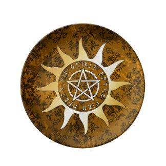 Louça De Jantar Oferecimento ritual da feitiçaria medieval de