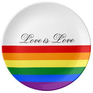 Louça De Jantar Orgulho gay da lésbica da bandeira LGBT do