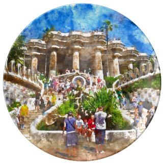 Louça De Jantar Parc Guell na espanha de Barcelona