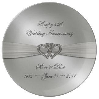 Louça De Jantar Placa clássica da porcelana do aniversário de
