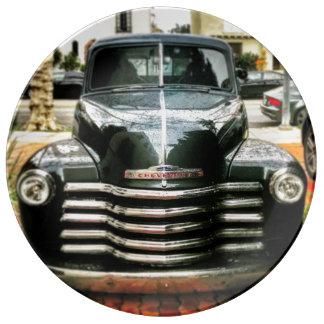 Louça De Jantar Placa da porcelana do caminhão de Chevy do vintage