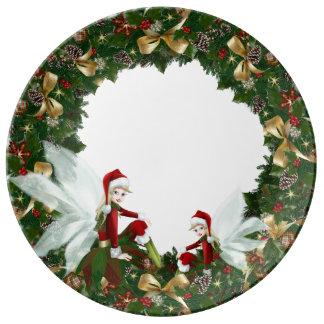 Louça De Jantar Placa da porcelana do Natal