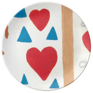 Louça De Jantar Placa da porcelana do trajeto do amor