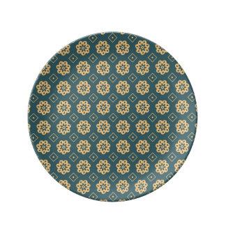 Louça De Jantar Placa de terra da porcelana de Flowerhead