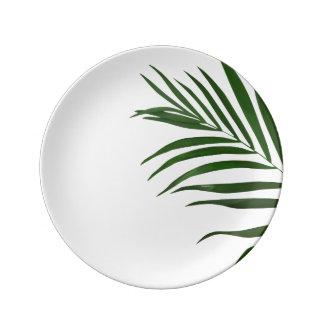 Louça De Jantar Placa decorativa da porcelana da folha da