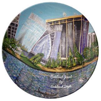 Louça De Jantar Placa decorativa da porcelana da jóia de Oakland