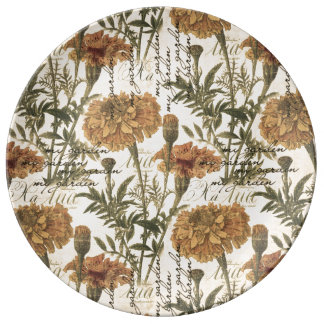 Louça De Jantar Placa decorativa da porcelana do vintage