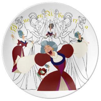 Louça De Jantar Placa do esboço da porcelana da rainha Uberta