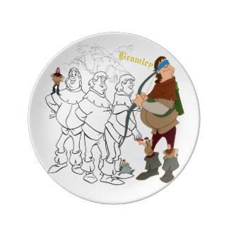 """Louça De Jantar Placa do esboço da porcelana de Bromley (8,5"""")"""