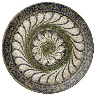 Louça De Jantar Placa marroquina da porcelana do design do vintage